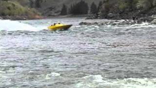 Race Boat VS River Waves