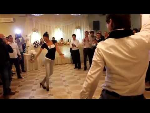 GEORGIANS dance great at Georgian wedding in Tbilisi, Georgia