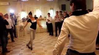 GEORGIANS dance great at Georgian wedding in Tbilisi, Georgia