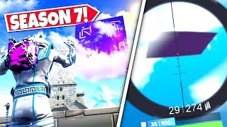 *NEW* GIANT FLOATING SQUARE *APPEARS* OVER FORTNITE MAP WARNING OF CUBE RETURN! SEASON 7 UPDATE!: BR