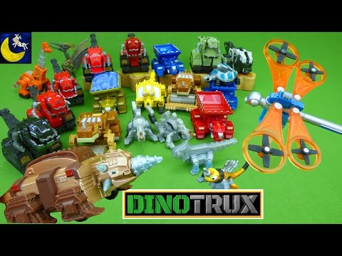 Lots of Dinotrux Diecast Toys! NEW Dragonflopter & Drillasaur Ty Rux D Structs Garby Dozer Toys Too!