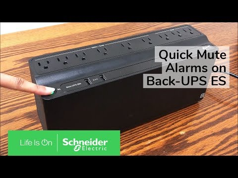 Using Quick Mute On APC Back-UPS ES M-Series | Schneider Electric Support