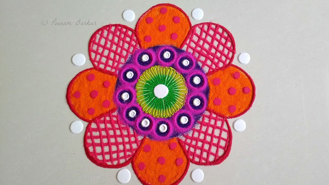 Simple Rangoli Designs With Flowers 4k Pictures 4k Pictures