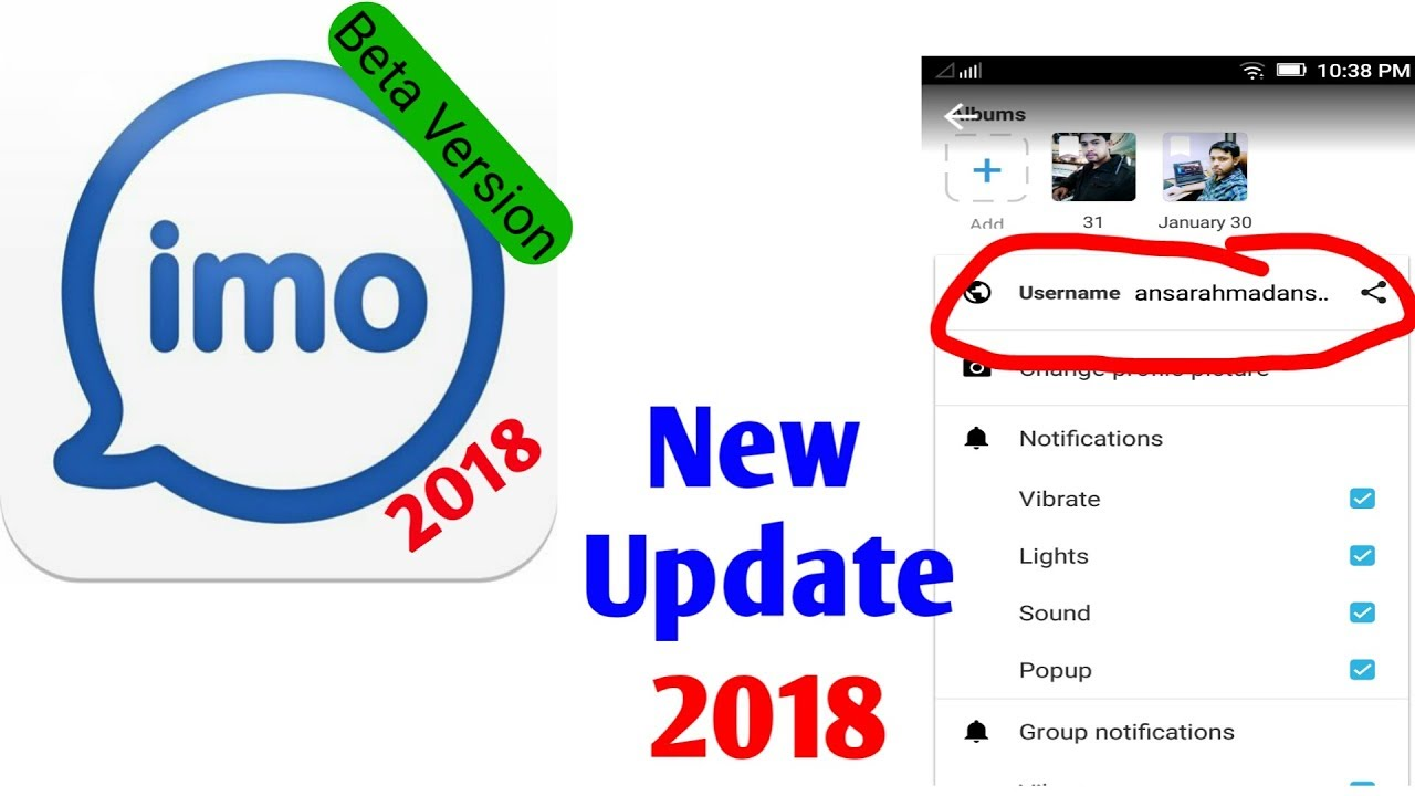 Imo Latest update 2018    Imo username Online Game