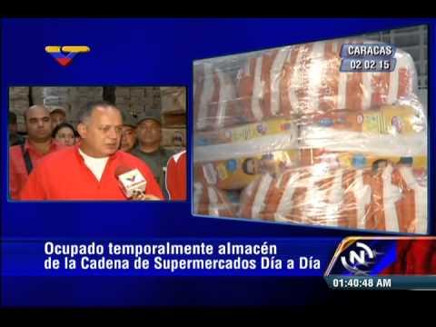 Mil toneladas de Harina PAN y productos Polar halla Diosdado Cabello en supermercados Día a Día