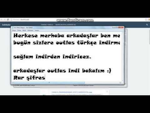 Outlas Türkçe Full Indirme %100 çalışıyor!