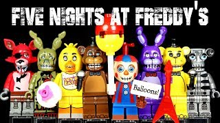 Lego Five Nights At Freddy's Foxy Spintraft Balloon Boy Animatronic Skeleton Unofficial Minifigures