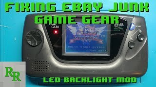 Game Gear LED Backlight Conversion - Fixing eBay Junk