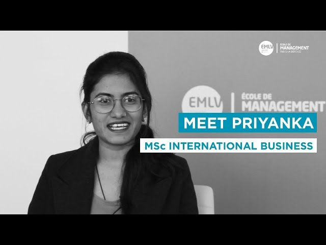 Meet Priyanka, MSc International Business Student at EMLV Paris