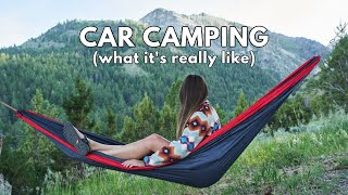 Car Camping VLOG *day iฑ the life + camping meal ideas*