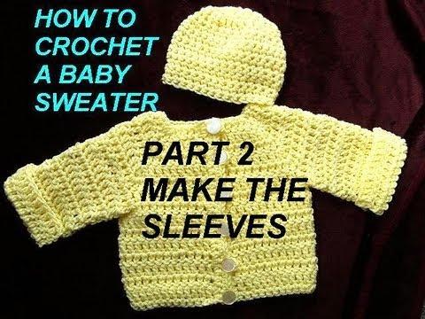 Baby Cardigan Sweater Crochet Pattern Part 2 Make The