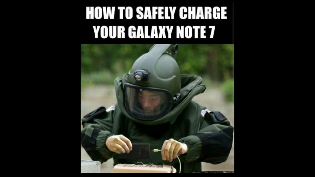 galaxy note 7 meme