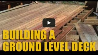 Building A Ground Level Cedar Deck At The Cabin