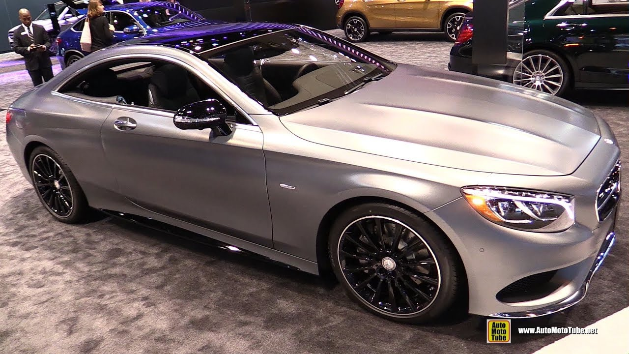 2017 Mercedes S550 Coupe Night Edition Exterior And Interior Walkaround Chicago Auto Show