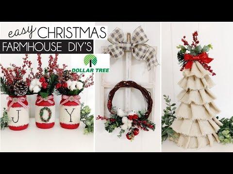 DOLLAR TREE CHRISTMAS 2019 | CHRISTMAS FARMHOUSE DIY's