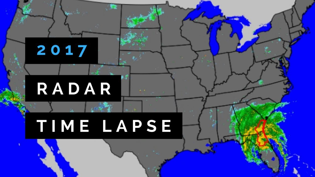 A Year in Weather - 2017 Radar Time Lapse