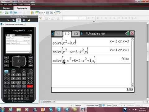 Using Your Ti Nspire Cas To Solve Quadratic Equations Youtube