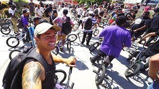 MASSIVE BMX STREET SWARM vs POLICE