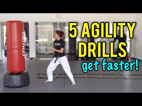 5 Agility Drills To Help Improve Your Speed | Taekwondo / Martial Arts