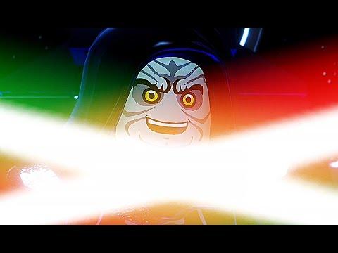 LEGO Darth Vader & Luke Skywalker Vs Darth Sidious BOSS Fight Battle (Star Wars The Force Awakens)