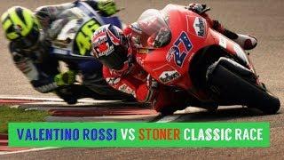 MotoGP Qatar 2007-Valentino Rossi VS STONER Classic RACE