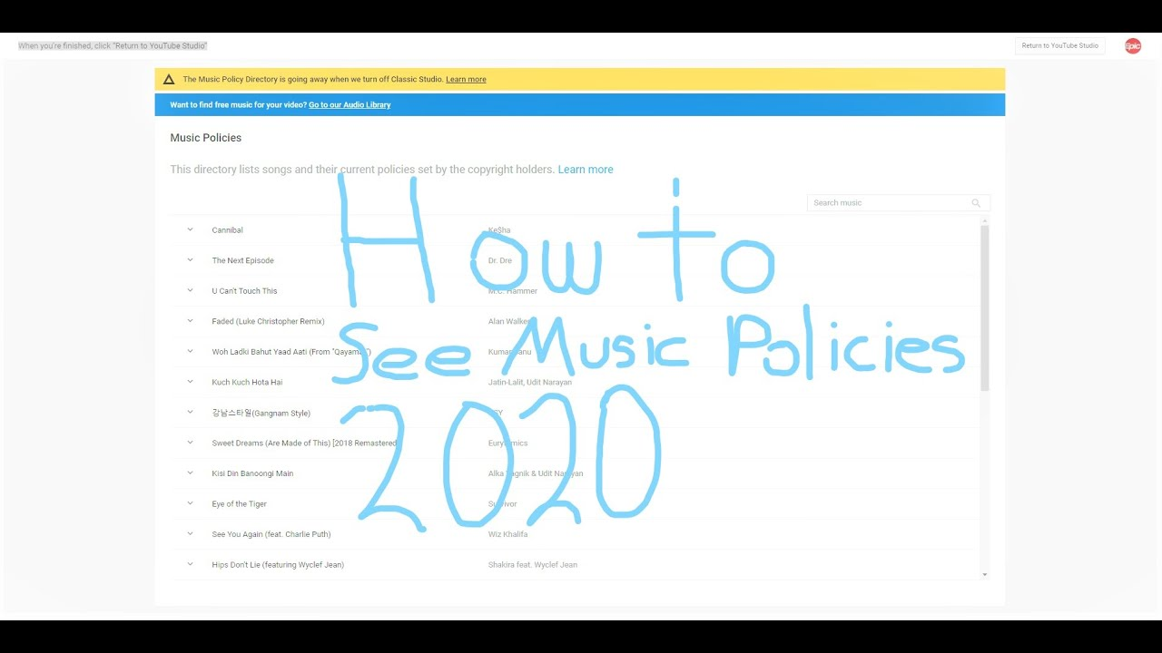 How To Use Music Policies 2020 New Youtube