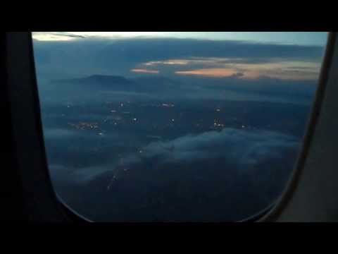 Take off and Landing from Guam to Manila on Philippine Airline Business Class PT 3 of 3