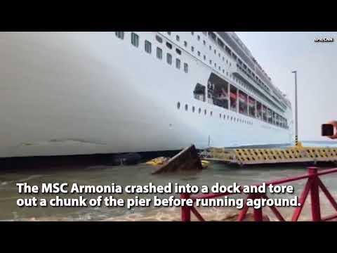 WATCH:  Cruise Ship Crashes Into Honduras Pier