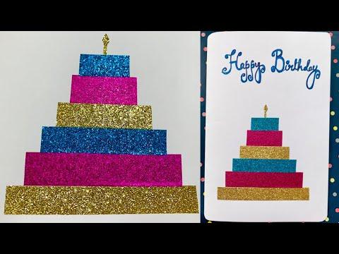 Birthday Cake Greeting Card - Super Easy DIY