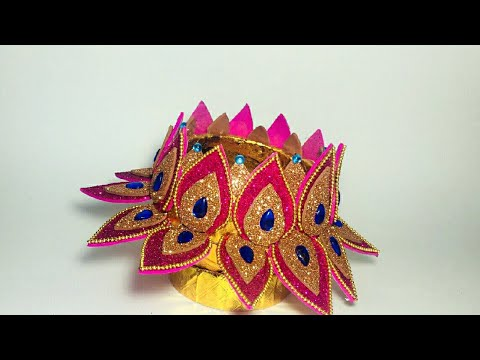 Coconut Shell Craft | Home Decor Idea | Handcrafted | Lotus Shape Craft For Diya | By Punekar Sneha.