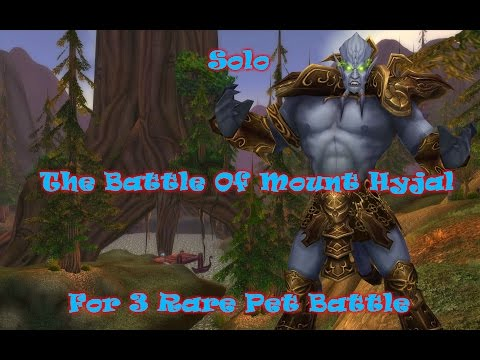 Solo the battle of mount hyjal and  get 3 rare pet battle to sell