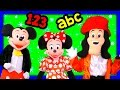 MICKEY MOUSE Learning Fun with Minnie Mouse + Donald Duck Education Fun Video