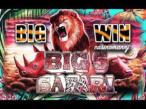 *Big Win* - BIG 5 SAFARI SLOT - LET'S GO TO THE JUNGLE! - Slot Machine Bonus - 동영상