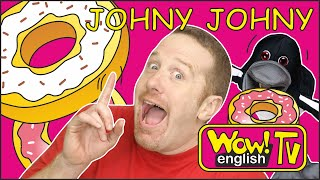 Johny Johny Yes Papa from Steve and Maggie for Kids | No Papa Song for Children Wow English TV