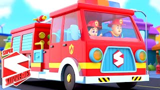 Fire Truck Song | The Big Red Fire Truck | Firefighters Song | Nursery Rhymes with Super Supremes