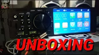 UNBOXING 1 DIN 4.1 inch HD car MP5 stereo radio MP3 USB in-dash head unit PHYEE 7805