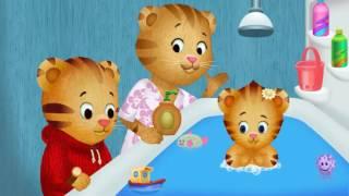Daniel el Tigre ayudando a mama en el baño. thumbnail