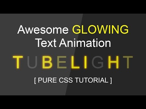 Cool Css Glowing Text Animation Tutorial - Html Css Blinking Text Effect