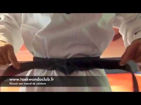 0 comment attacher sa ceinture de taekwondo correctement?