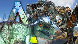 Ark Survival Evolved - Giganotosaurus Taming FAIL, Riot Shield, Sword,  Pimp My Rex - Gameplay