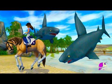 Shark !!! New Map Update Golden Hills Valley - Star Stable Online Horse Game Video
