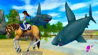 Shark !!! New Map Update Golden Hills Valley - Star Stable Online Horse Game Video