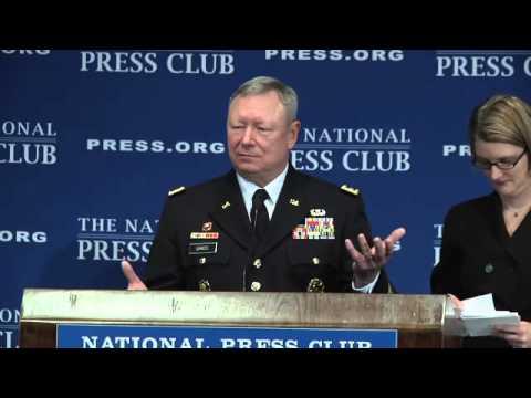 Gen. Frank J Grass speaks at the National Press Club on Jan  9, 2014