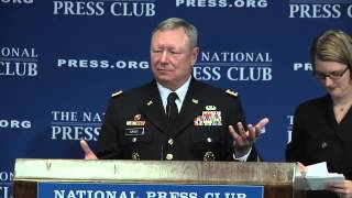 Gen. Frank J Grass speaks at the National Press Club on Jan  9, 2014