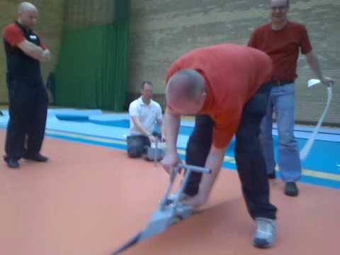 laying gerflor's taraflex flooring (1 of 3) - youtube