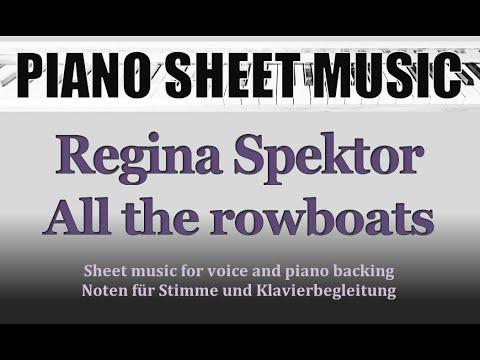 Regina Spektor  All the rowboats PianoVocal