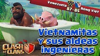 Vencemos a Vietnamitas y sus Aldeas Ingenieras - Venezuela Vs Rong Viet | Clash Of Clans