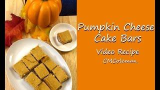 Pumpkin Cheesecake Bars Video Recipe