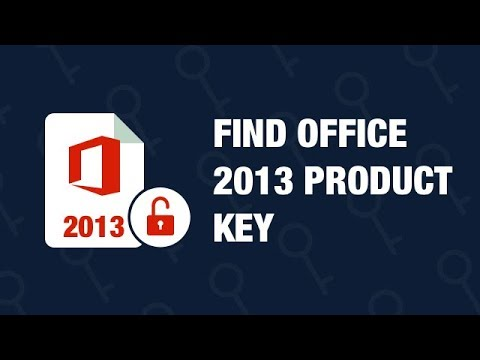 How To Find Office 2013 Product Key