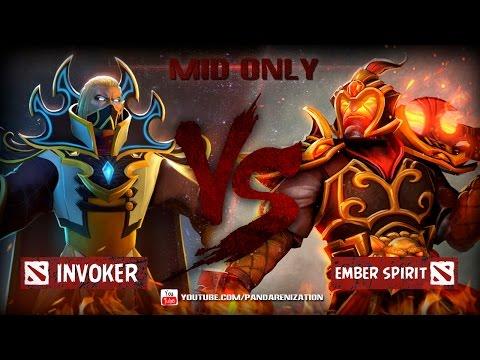 видео: invoker vs ember spirit [Битва героев mid only] dota 2